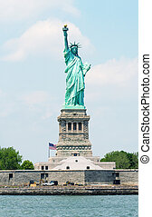 Amazing view of Statue of Liberty in New York.