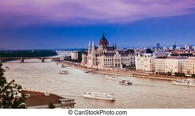 amazing view on Danube in Budapest