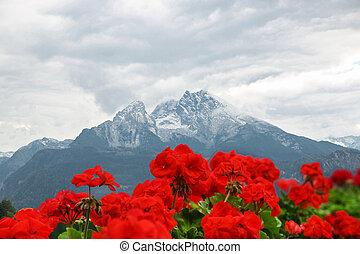 Amazing view on Watzmann. Mountain in the Bavarian Alps...