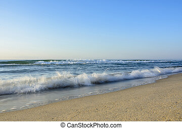 Amazing waves on the magnificent coast of the Black Sea