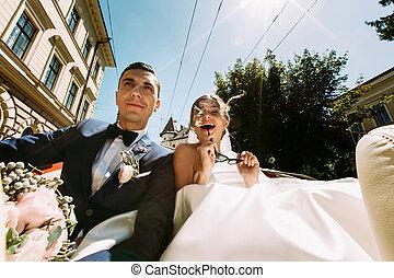 Amazing wedding day of the modern couple
