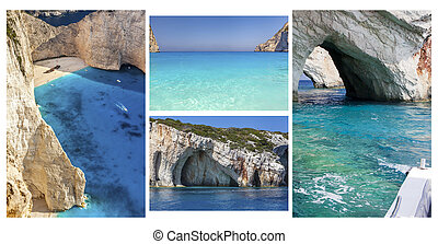 Amazing Zakynthos Island Collage, Greece