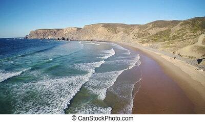 Amazingly beautiful wild beach in Algarve, Portugal -...