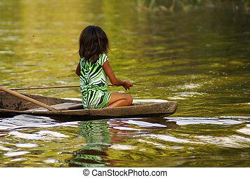 amazon, riverbank
