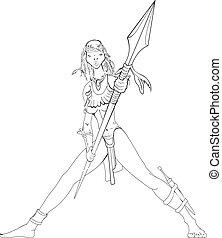 amazon, spear.