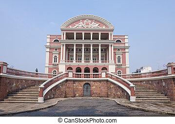 Amazon Theater facade in Manaus