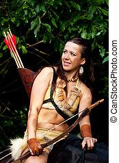Amazon - Young beautiful amazon on horseback