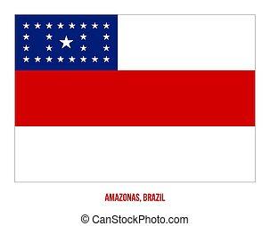Amazonas Flag Vector Illustration on White Background. States Flag of Brazil.