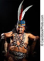 amazonian, shaman, verticaal