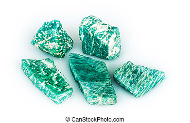 amazonite, (amazon-stone)