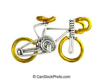 ambacht, fiets, op wit, achtergrond
