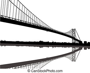 ambasciatore, silhouette, ponte