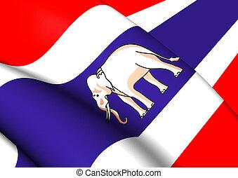 Ambassador Standard and Consular of Siam Flag (1917-1927). ...