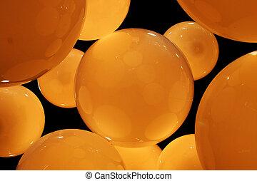 Amber circles - Abstract pattern of orange circles
