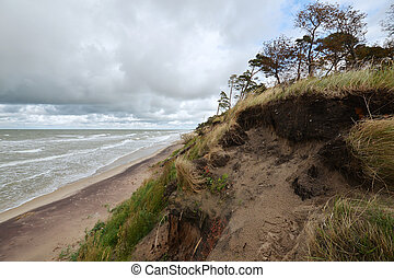 amber coast of Latvia - coast of Latvia at baltic sea