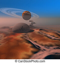 AMBER CREST - Life under domes on Mars.