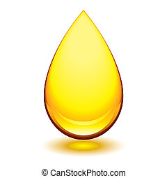 amber droplet - Golden amber icon with tear droplet shape...