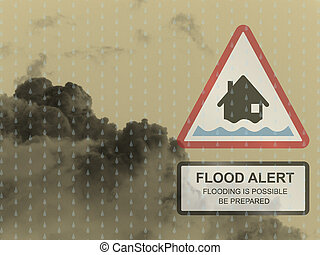 Amber flood warning