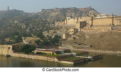 Amber fort - Panoramic view of Amber fort, Rajasthan, India.