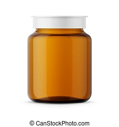 Amber glass medicine bottle template.