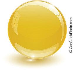 Amber glassy ball