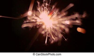 Amber light sparkler