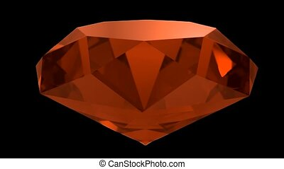 Amber orange gemstone gem stone spinning wedding background...
