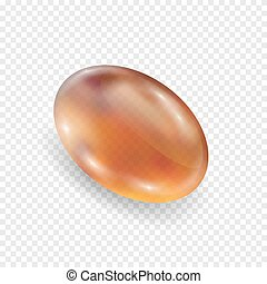Amber realistic isolated on white background