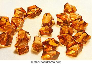 Amber stones - Big pile of semi precious amber stones