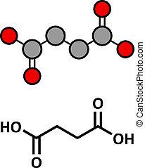 amber), succinates., esters, cycle., succinic, molecule., ...