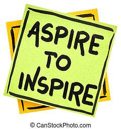 ambiëren, raad, of, inspireren, herinnering
