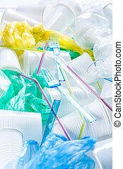 ambiant, assortiment, plastic., jetable, non-compostable, ...
