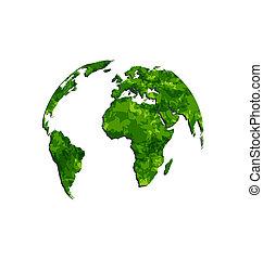 ambiant, symbole, sauver, terre verte