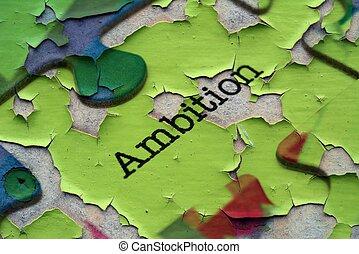 ambición, rompecabezas, concepto