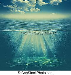 ambiental, abstratos, fundos, água, profundo