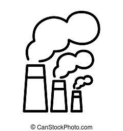 ambiental, contaminación, ilustración, diseño