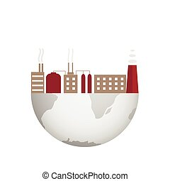 ambiental, contaminación, ilustración
