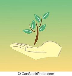 ambiental, ecología, protección, cartel