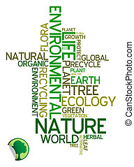 ambiental, ecologia, -, cartaz