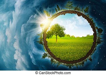 ambiental, resumen, infinito, fondos, dentro