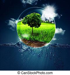 ambientale, astratto, sfondi, tuo, disegno
