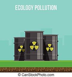 ambientale, inquinamento, manifesto