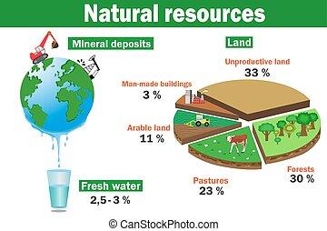 ambientale, naturale, vec, risorse