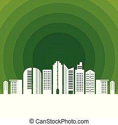 ambiente, città, buco, verde, pulito
