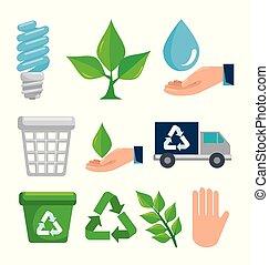 ambiente, conservazione, set, ecologia, protezione