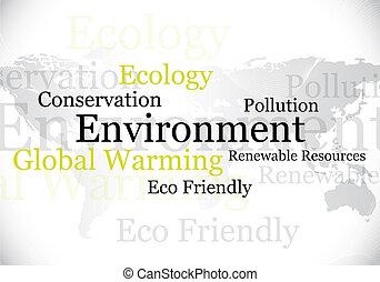 ambiente, eco, disegno, /