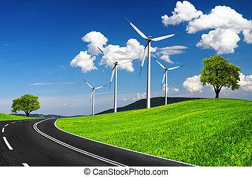 ambiente, ecológico, rápido, camino