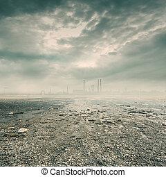 ambiente, industria, prodotto petrochimico, inquinante