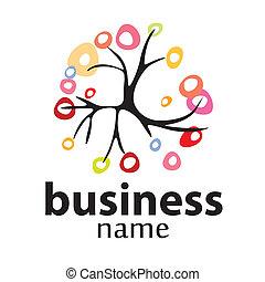 ambiente, logotipo, vettore, albero, affari