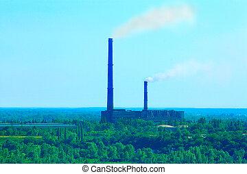 ambiente, plant's, tubos, contaminar